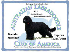Swinginng Gate Labradoodles 2021 ALCA Membership